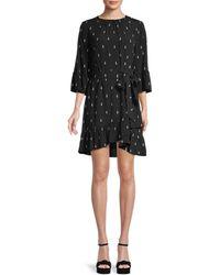 Kate Spade Penguin-print Sheath Dress - Black