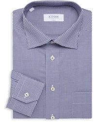 Eton of Sweden Classic-fit Gingham Dress Shirt - Blue