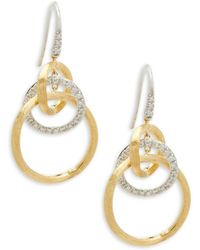 Marco Bicego - Jaipur Diamond And 18k Gold Drop Earrings, 0.39 Tcw - Lyst