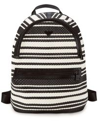 Armani - Woven Leather Backpack - Lyst