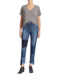 Joe's - Debbie High-rise Patchwork Step Hem Jeans - Lyst