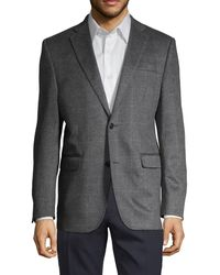 Saks Fifth Avenue Standard-fit Windowpane Cashmere Sportcoat - Gray