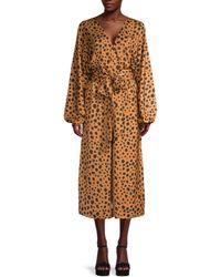RHODE Cheetah-print Jumpsuit - Brown