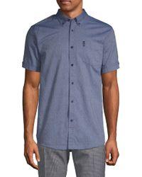 Ben Sherman - Diamond Dobby Cotton Button-down Shirt - Lyst