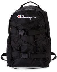 Champion Men's Logo Mesh-trim Backpack - Black