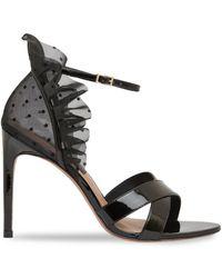 BCBGMAXAZRIA Women's Stella Patent Leather Stiletto Sandals - Black - Size 7.5