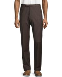 Theory Zaine Textured Wool-blend Suit Trousers - Multicolour