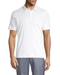 Saks Fifth Avenue Classic Cotton Polo - White