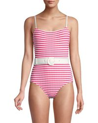 Solid & Striped The Nina Belted One-piece Swimsuit - Pink
