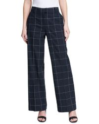 Donna Karan - Mid-rise Linen Wide-leg Pants - Lyst