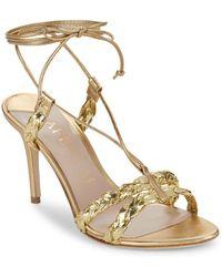 Aperlai - Metallic Open Toe Sandals - Lyst
