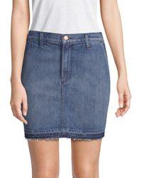 J Brand - Washed Denim Mini Skirt - Lyst