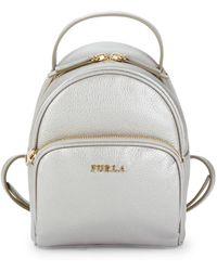 Furla - Zip-around Leather Backpack - Lyst