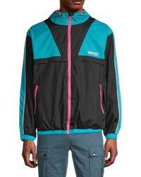 Wesc Athletic Colorblock Wind Breaker Jacket - Black