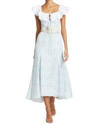 Rosie Assoulin Peter Pan Collared Midi Dress - Blue