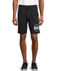 Michael Kors Men's Circle Logo Heathered Shorts - Black - Size Xl