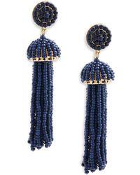 Gemma Simone Sea Bead Drop Earrings - Blue