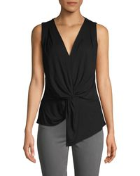 Bailey 44 Sleeveless Twist-front Top - Black