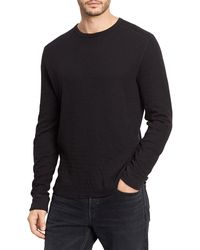 Vince Double-knit Pullover - Black