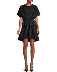 Johanna Ortiz Embellished Ruffled Dress - Black