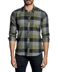 Jared Lang - Plaid-print Long-sleeve Button-down Shirt - Lyst