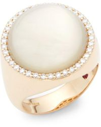 Roberto Coin - Quartz, Diamond And 18k Rose Gold Ring - Lyst