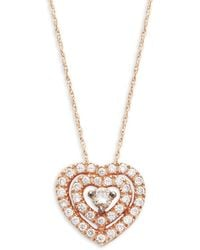 Le Vian - Chocolatier® Chocolate & Vanilla Diamondstm14k Strawberry Gold® Pendant Necklace - Lyst