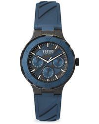 Versus Men's Wynberg Stainless Steel Silicone-strap Watch - Black