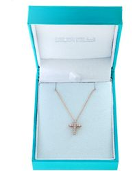 Effy Women's Super Buy 15k Rose Gold And Diamonds Cross Pendant Necklace - Blue