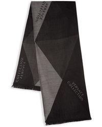 Versace - Geometric Wool-blend Scarf - Lyst