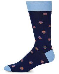 Bugatchi - Multicolored Intarsia Socks - Lyst