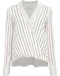 Bailey 44 Sloane Stripe Wrap Top - White