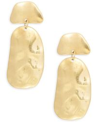 Kenneth Jay Lane - Goldtone Geometric Drop Earrings - Lyst