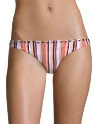 Same Swim - Full Coverage Striped Bikini Bottom - Lyst
