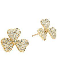 Legend Amrapali 14k White Gold, Milky Aquamarine & Diamond Necklace - Multicolour