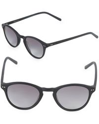 Vera Wang 46mm Round Sunglasses - Black