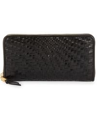 Cole Haan - Leather Weave Wallet - Lyst