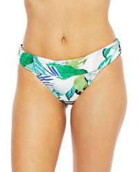 La Blanca In The Moment Shirred Band Bikini Bottom - Green