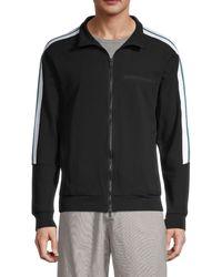 Antony Morato Men's Contrast Stripe Track Jacket - Black - Size S