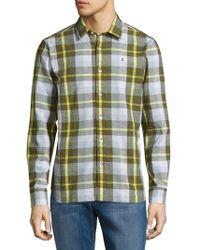 Victorinox - Plaid Cotton-blend Shirt - Lyst