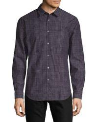 John Varvatos - Slim-fit Cotton Button-down Shirt - Lyst