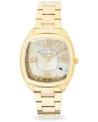 Fendi Momento Mother-of-pearl & Goldtone Stainless Steel Bracelet Watch - Metallic