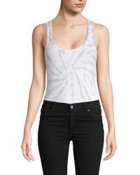 Chaser - Tie-dyed Cotton-blend Bodysuit - Lyst