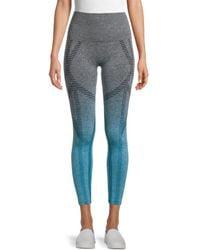 Electric Yoga Nez Mixed-pattern Leggings - Blue