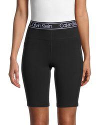 Calvin Klein Stretch-cotton Biker Shorts - Black