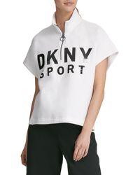 DKNY Graphic Cotton-blend Top - Black
