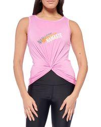 Electric Yoga Women's Namaste Tank Top - Pink - Size M