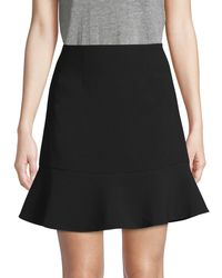 French Connection No-waistband Flare Skirt - Black