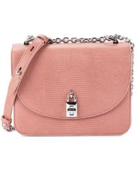 Rebecca Minkoff Women's Love Too Iguana-embossed Leather Crossbody Bag - Desert Rose - Pink