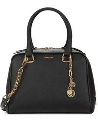 Calvin Klein Marybelle Faux Leather Satchel - Black